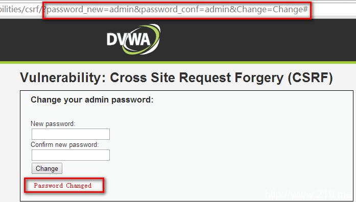 DVWA-CSRF