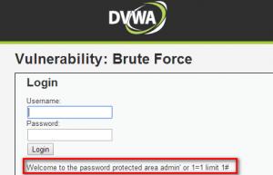 dvwa-Brute Force2